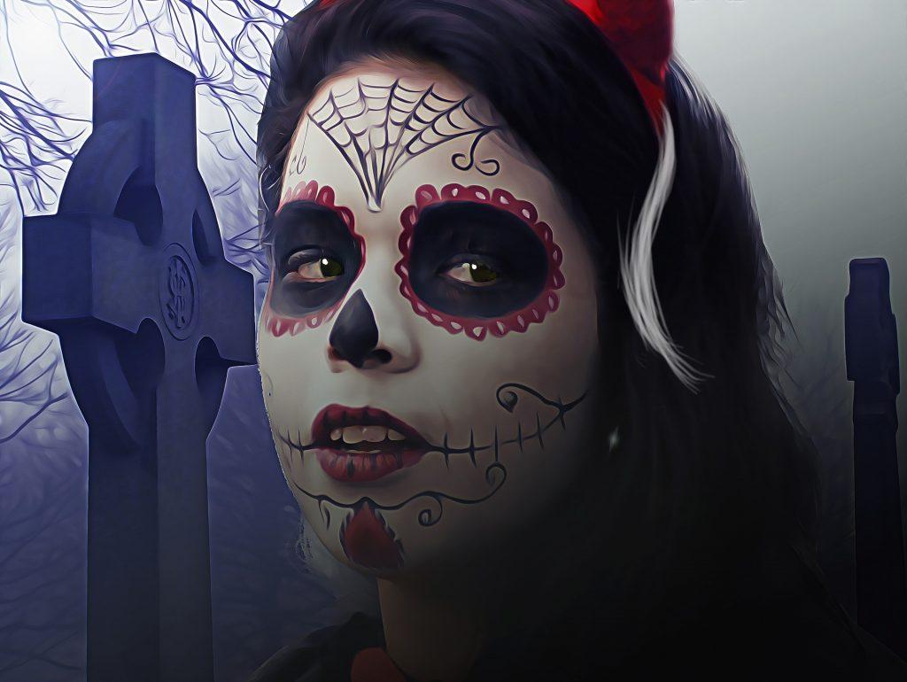 maquillaje de catrina o calavera mexicana fácil