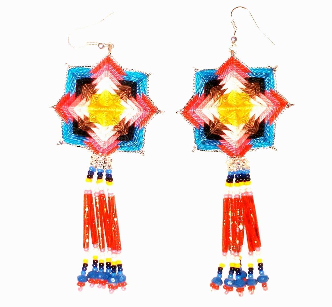 Aretes Huichol Tradicionales
