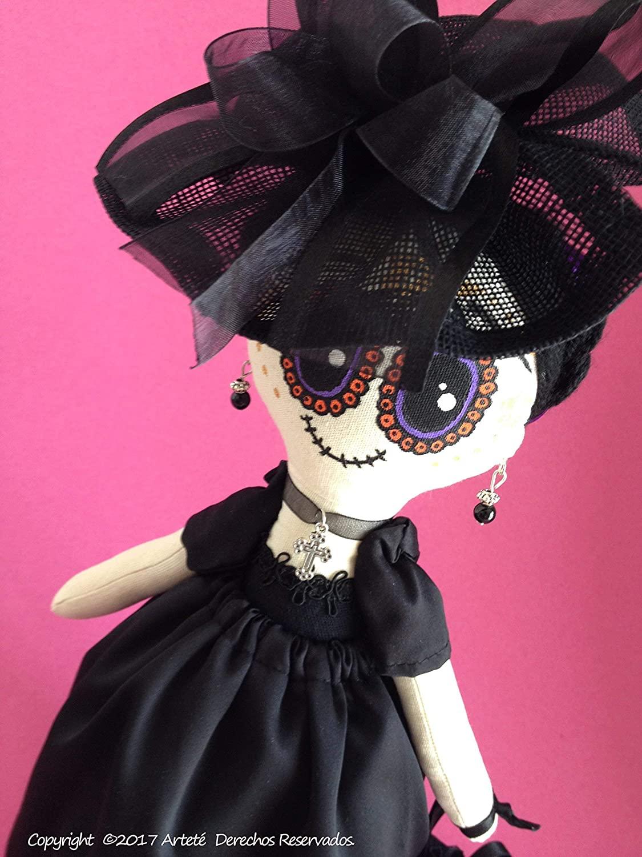 Muñeca de trapo tipo Catrina