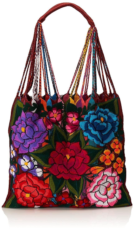 Bolso de tela mexicano flores