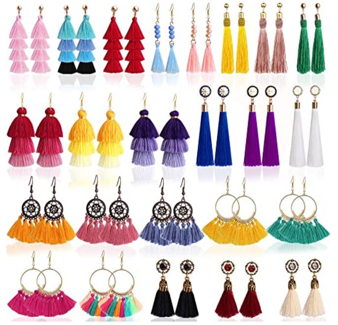 24 pares de pendientes estilo mexicano